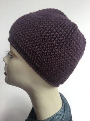 Wi 89e - Kopfbedeckung kaufen - Wintermodelle - Melone gehäkelt Violetton