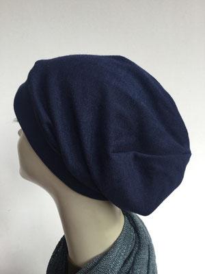 Wi 16 - Beanie genäht - dunkelblau - Kopfbedeckung kaufen