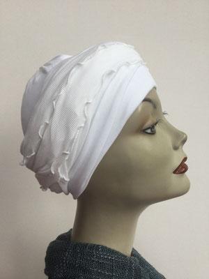 G33 - Kopfbedeckungen kaufen - Baumwollschlauch (Jersey) und Chäppli - weiss