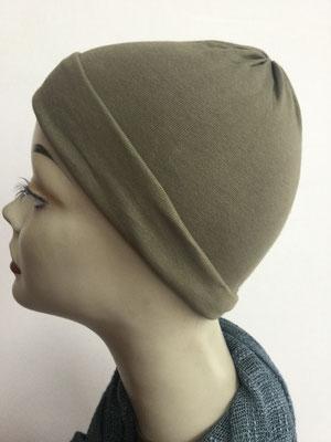 G29d - Kopfbedeckungen kaufen - Baumwollchäppli fest - oliv