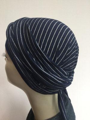 So 42 - Kopfbedeckung kaufen - Sommermodelle - Bajazzo - marin mit Silberstreifen