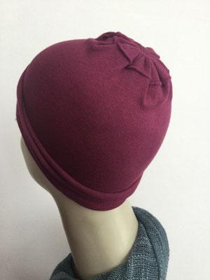 G19c - Kopfbedeckungen nach Chemo - Baumwollchäppli fein - weinrot