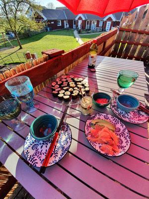 Auf der Terrasse essen - eine Wonne!