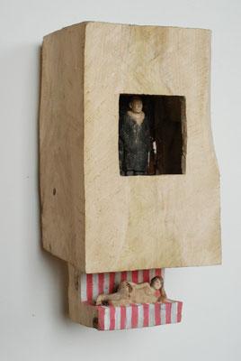 Kiste 12 - Oben Mann, unten Frau, Pappelholz bemalt, 2013