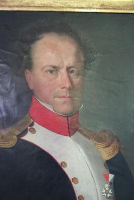 François Michaud (1784-1863), beau-frère du colone, capitaine dans l'armée impériale, chevalier de la légion d'honneur. (Collection privée)