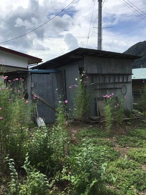 空き家の物置小屋の片付け