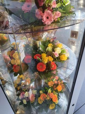 Blumenautomat gefüllt