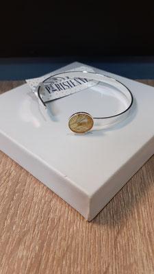 """<FONT size=""""5pt"""">Bracelet fin Argent Parisiennes  Paillettes- <B>25,00 €</B> </FONT>"""