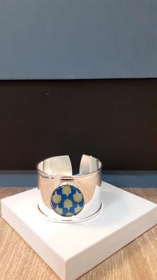 """<FONT size=""""5pt"""">Bracelet manchette Argent Parisiennes - <B>45,00 €</B> </FONT>"""