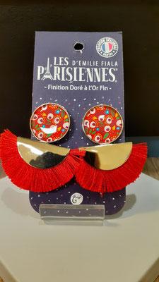 """<FONT size=""""5pt"""">Boucles d'oreilles Pompon doré Or fin Pop - <B>45,00 €</B> </FONT>"""