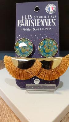 """<FONT size=""""5pt"""">Boucles d'oreilles Pompon doré Or fin Scarabées- <B>45,00 €</B> </FONT>"""