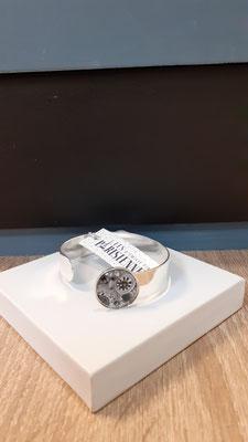 """<FONT size=""""5pt"""">Bracelet Médium Argent Parisiennes Botanica- <B>35,00 €</B> </FONT>"""