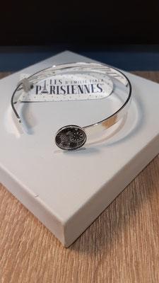 """<FONT size=""""5pt"""">Bracelet fin Argent Parisiennes - <B>25,00 €</B> </FONT>"""