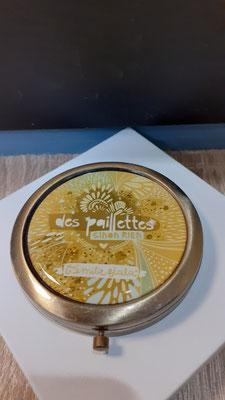 """<FONT size=""""5pt"""">Miroir bronze antique Paillette  - <B>16,50 €</B> </FONT>"""