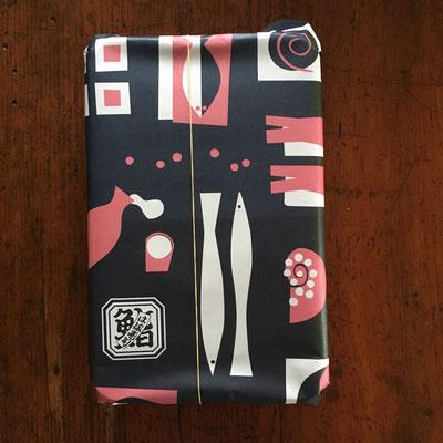 """横浜市金沢区「は満寿司」様 テイクアウト用包装紙 Wrapping paper for """"Hama-Zushi (sushi)"""" in Kanazawa-ku Yokohama"""