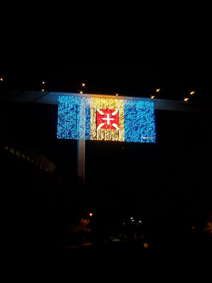 Drapeau de Madère en lumières