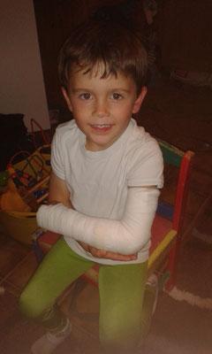 Aaron hat sich leider den Arm verletzt und konnte nicht mitmachen...