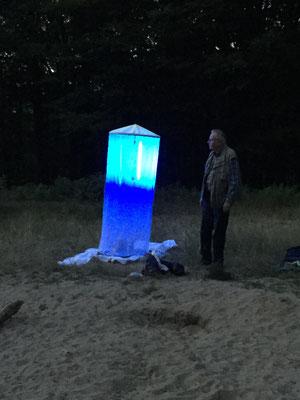 Nachtfalterregistrierung am UV-Licht in Mülheim-Uhlenhorst