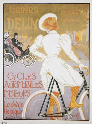 Affiche van G. Gaudy voor Delin uit 1898.