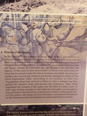 L'histoire de la découverte des reliques de la reine Ketevan