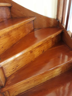 plastificado pulido de pedada de escaleras