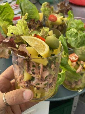 Riesen Kalamar Salat