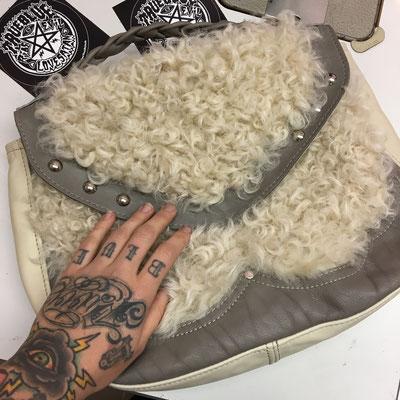 sheapskin bag