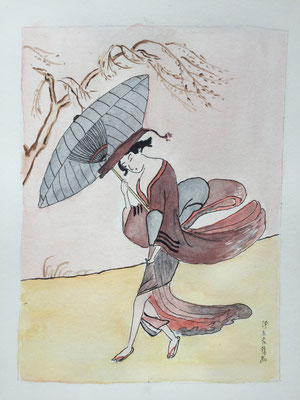 Japanese Academic in Gust of Wind (Suzuki Harunobu) Dec 18 2017