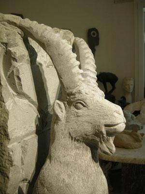 Steinbock Skulptur