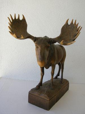 Elch Holzfigur