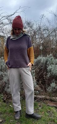 Hose Salix aus strukturiertem Baumwollstoff, genäht von @zwiebelzwirn