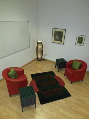 Therapie-Sitzgruppe aus der Vogelperspektive