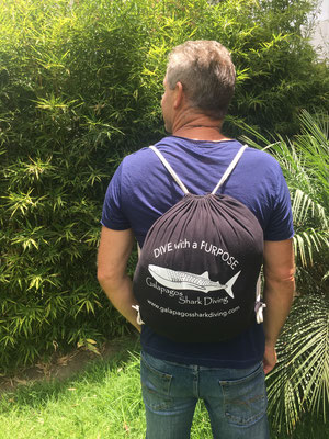 Galapagos Shark Diving - reusable cotton bag to save plastic