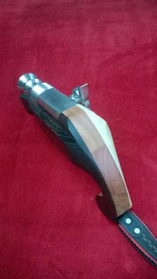 cal. 24mm in Schwarz Rot Gelb, Holz: Wenge, Apfel, Ahorn