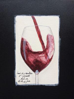 Sangiovese im Glas