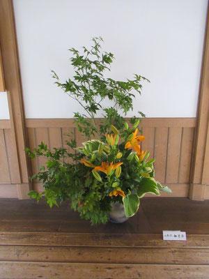旧札幌農学校寄宿舎(恵迪寮)に展示された作品。