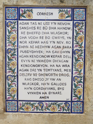 The Lord's prayer in Cornish