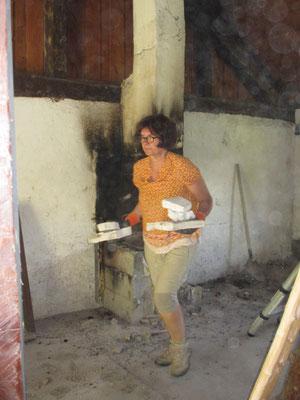 Au démontage de la cheminée