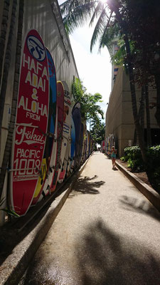 Weg zum Waikiki Beach
