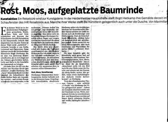 Heidenheimer Zeitung (Maximilian Haller, Redakteur) vom 12.März 2021