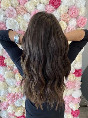 Tressen, Haarverlängerung Braun
