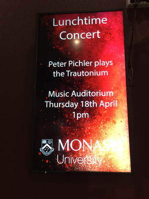 Peter Pichler Trautonium concert at Monash University