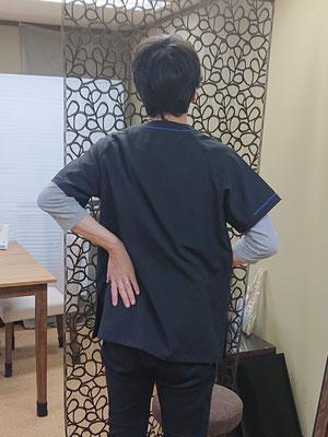 骨盤と腰 後ろ