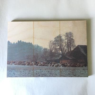 Holztafel Ausführung Beplanung mit Foto