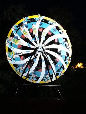 La roue en action. Un phénomène de mise en lumière
