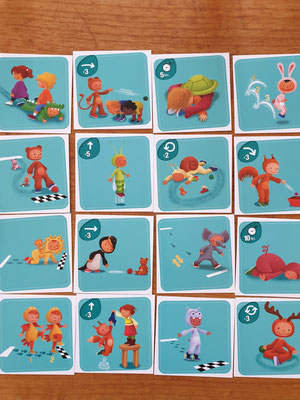 Cartes Gym Animo Bioviva bleues dès 3 ans