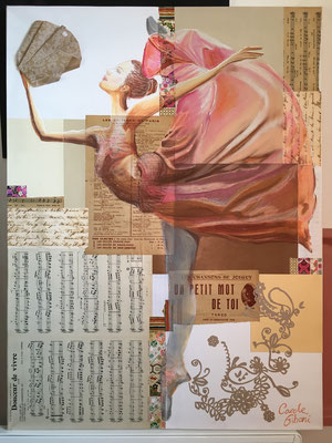 La Danseuse, collages, Carré Conté®
