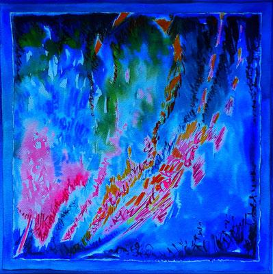 Belharra - Aquarelle - 40X40 cm- Disponible
