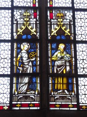 Doornik - Lodewijkskapel. Catharina van Alexandrië en Johannes de Doper