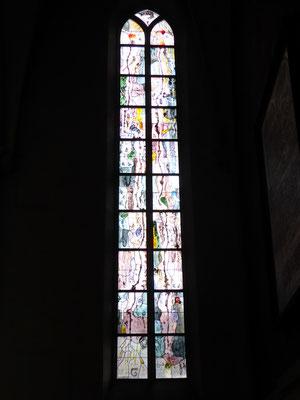 Stevenskerk glas-in-lood Pelikaanraam